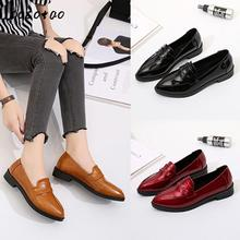 Work Shoes Female Thick With Spring And Autumn Single Shoes Black Wild Tooling Shoes Professional Ol Workplace Pointed 2017 spring and summer japanned leather thick heel high heeled shoes bow ol formal work shoes female black with the single shoes