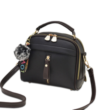 Fashion Women Handbag PU Leather Women Messenger Bags With Ball Toy Female Shoulder Bags Ladies Party Handbags 2021