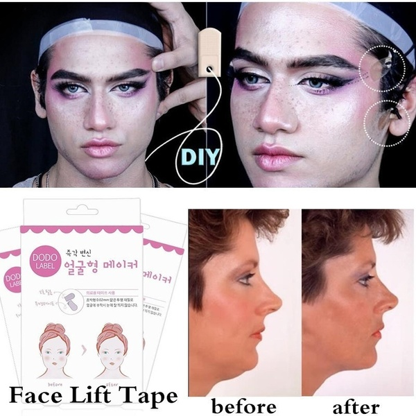 40 80pc Face Lift Sticker Thin Face Weight Loss Anti Cellulite Artifact Invisible Sticker Lift Chin Medical Tape Face Lift Tools