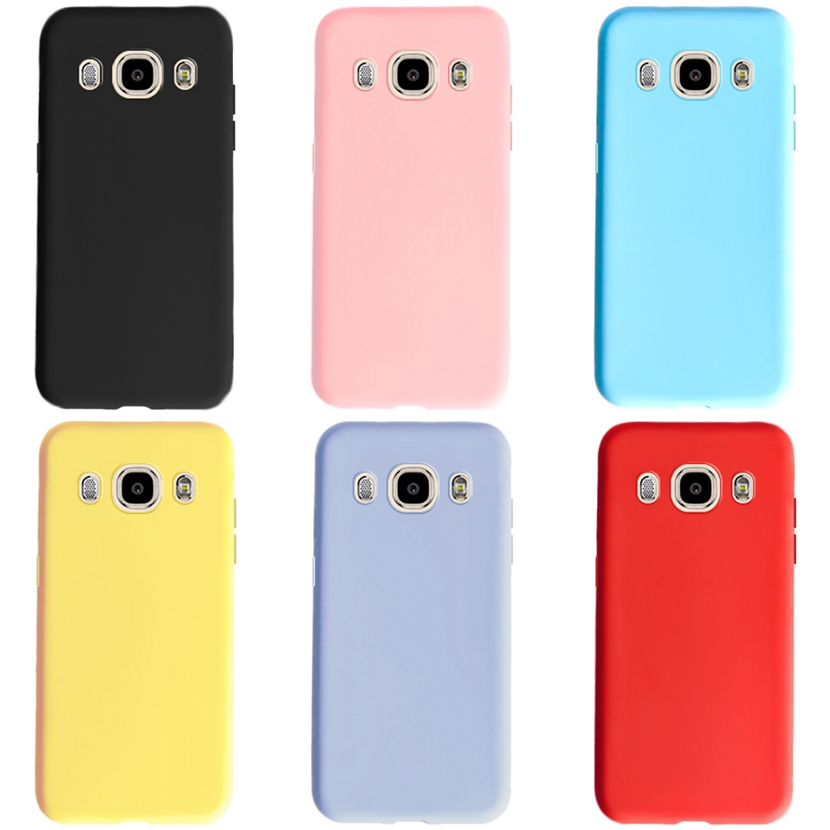 For Cover Samsung Galaxy J3 J5 J7 2016 Case J310 J510 J710 Candy Color Soft TPU Back Cover Fundas For Samsung J3 J5 J7 6 Case