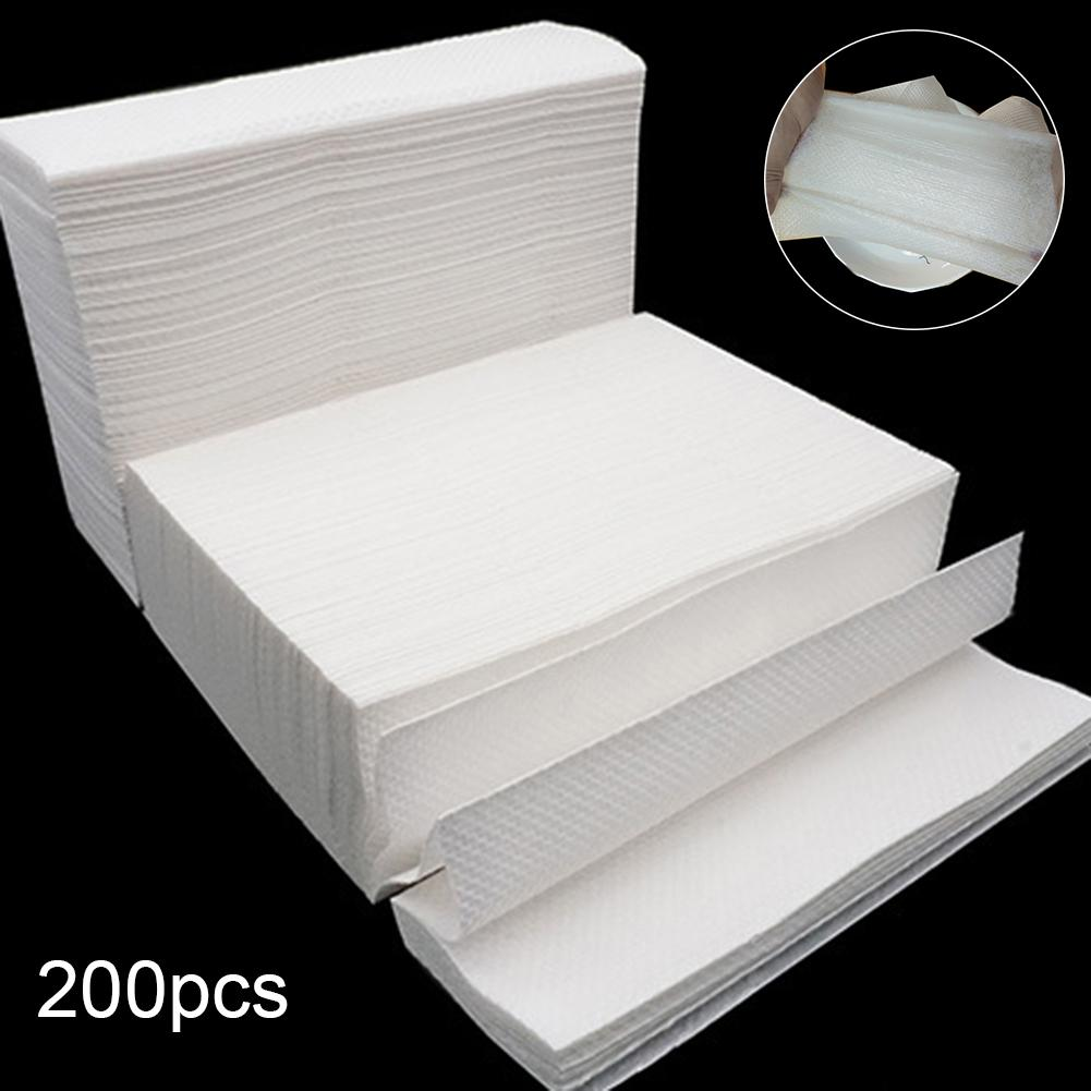 200 Sheets Disposable Natural Wood Pulp Thickened Napkin Paper Toilet Tissues Paper Dropshipping