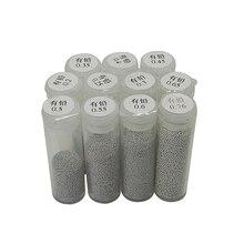 PMTC BGA припой шар 25 к 0,2 мм 0,25 мм 0,3 мм 0,35 мм 0,4 мм 0,45 мм 0,5 мм 0,55 мм 0,6 мм 0,65 мм 0,76 мм этилированный оловянный припой шарики