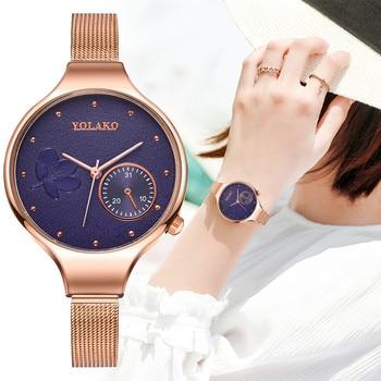 Fashion High Quality Creative Flower Quartz Belt Ladies Watch Gift Women Casual Wrist Watches femme часы женские наручные