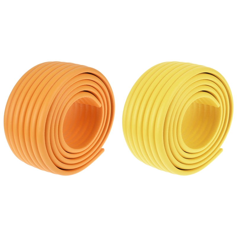 2 Pcs 2M Baby Child Kids Table Desk Furniture Edge Corner Safety Guard Protection Security Protector Wide Cushion Pad Crash Bar