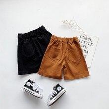 Осенние штаны для маленьких девочек, однотонные Короткие штаны с принтом, Детские повседневные хлопковые свободные шорты, штаны