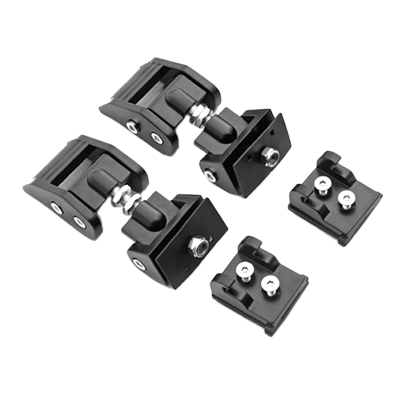 Metal Engine <font><b>Hood</b></font> <font><b>Latch</b></font> Lock Catches Kits for <font><b>Jeep</b></font> Wrangler 07-18 JK JKU Black image