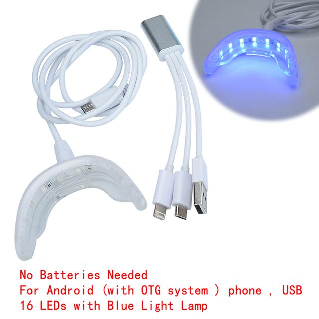 AZDENT 3X3ml Dental Equipment Tooth Whitening Kit  Peroxide Bleaching System Oral Gel Kit Ultra White Lamp for Teeth Whitening