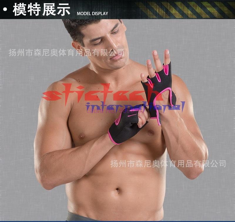 Weight-Lifting-Gloves Sweat-Absorption Gym Exercise Training Half-Finger Fitness Multifunction