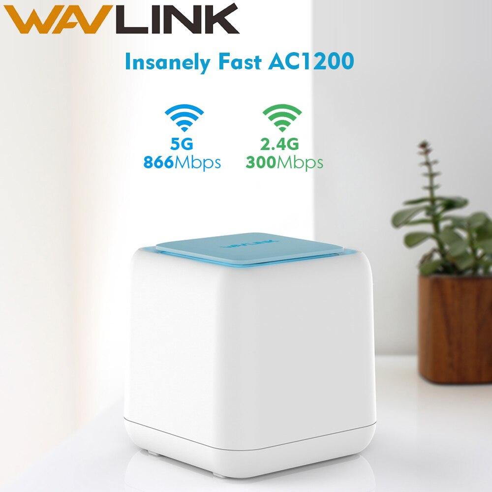 Routeur WiFi sans fil Wavlink système de couverture Wifi à domicile entier maille 1200Mbps 2.4G/5GHz WiFi répéteur sans fil APP à distance gérer l'ue