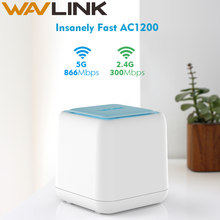 Wavlink Wireless WiFi Router Whole Home Mesh Wifi Coverage System 1200Mbps 2.4G/5GHz WiFi Wireless Repeater APP Remote Manage EU(China)