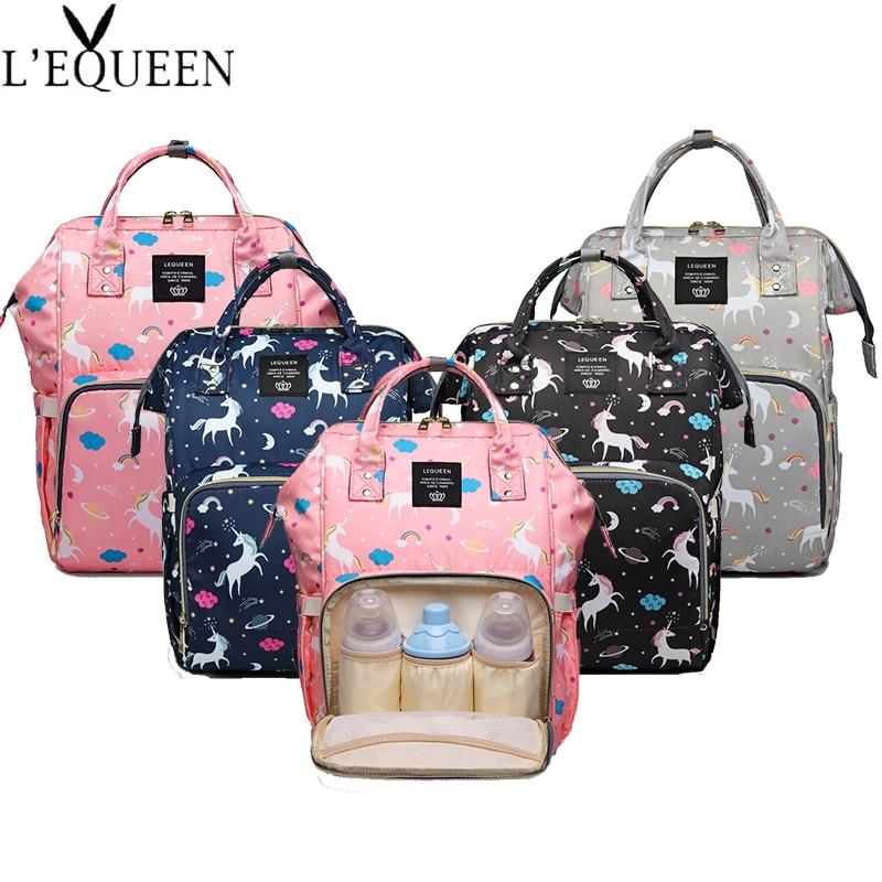 Lequeen Large Capacity Maternity Bag Baby Bag Mummy Bag Multifunctional Diaper Bag Travel Backpack Nursing Bag Baby Care Handbag