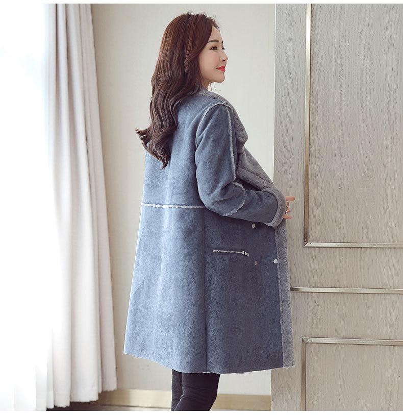 azul quente camurça jaqueta mulher casaco senhoras blusão oversize