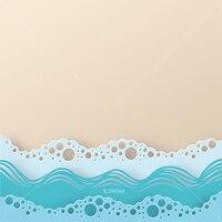 Ocean Beach Wave-troqueles de corte de Metal, plantilla de fondo especial, artesanía decorativa para bricolaje, álbum de recortes