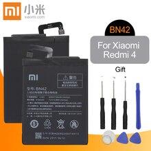 Xiao mi Original BN42 Handy Batterie Für Xiao mi Red mi 4 Ersatz Batterie Hohe Kapazität 4000mAh Hohe qualität + Werkzeuge