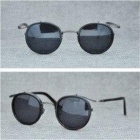 round vintage polarized sunglasses women and men retro lentes de sol hombre mujer sun glasses