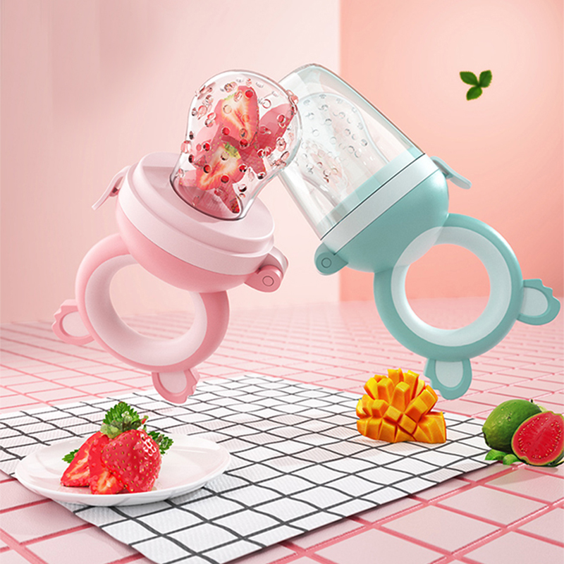 Baby Fresh Food Fruit Vegetable Mills Dispenser Baby Cartoon Pacifier Nipple Feeder Baby Food Masher Care Safety Tool BPA Free