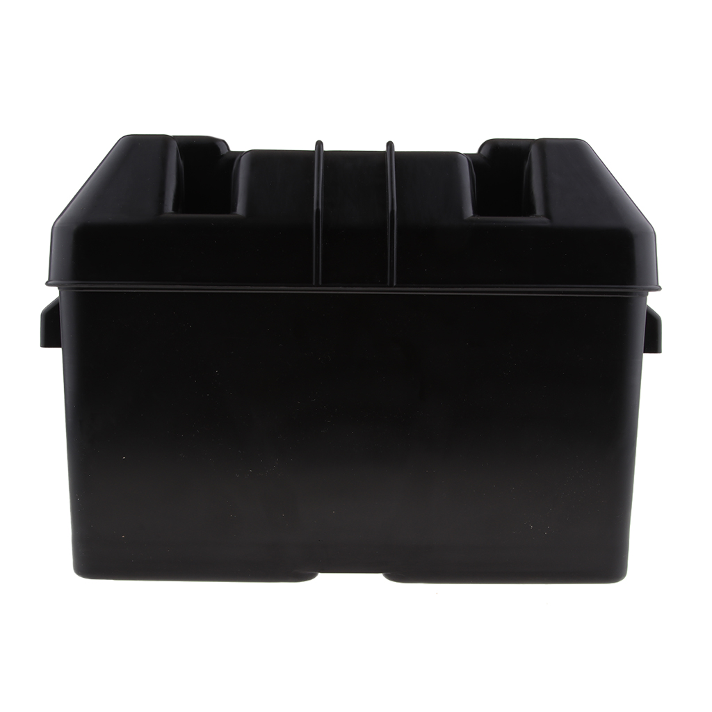 Car RV Boat Marine Smart Battery Box Power Guard Tray Holder W/ Strap
