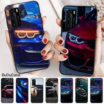Bmw Blue Red Sport Car Phone Case for huawei p30 lite pro p20 lite p10 p smart plus z 2019 2018 image