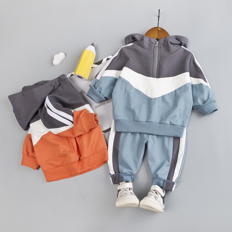 0-4 years High quality boy girl clothing set 2019 new autumn sport active casual kid suit children baby clothing hoodies+pant