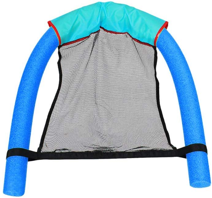 1PCS Floating Pool Noodle Net Sling Mesh Float Chair Net For Swimming Pool Kids Bed Seat Water Relaxation Flodable Swimming Ring