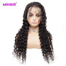 Brazilian Hair Deep Wave Lace Front wigs 150% Remy Human Hair Wigs 13x4 Lace Wigs With Baby Hair Swiss Lace Natural Black 36c loose deep wave human hair lace front wigs remy hair chinese 150
