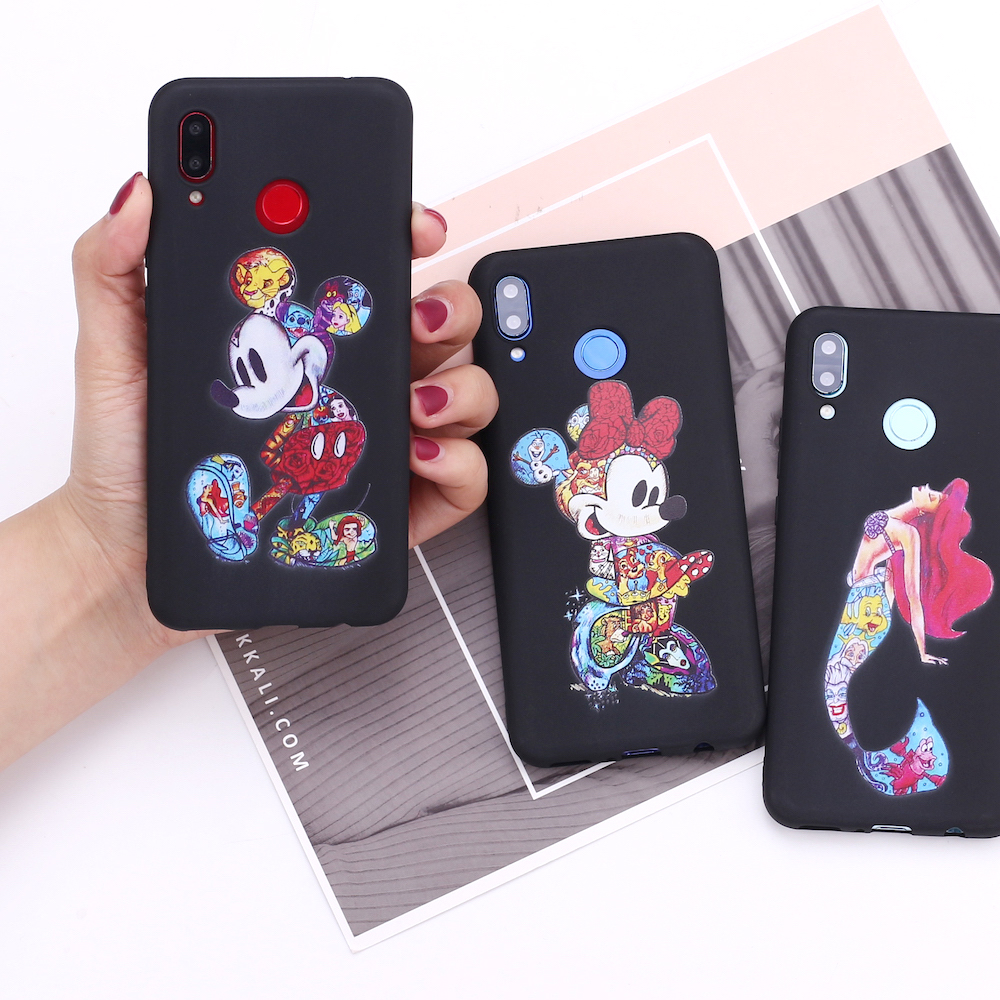 For <font><b>Samsung</b></font> S8 S9 S10 <font><b>S10e</b></font> S20 Plus Note 8 9 10 A7 A8 Cartoon Mermaid Joker Spider man Silicone Phone Case Cover <font><b>Capa</b></font> Fundas image
