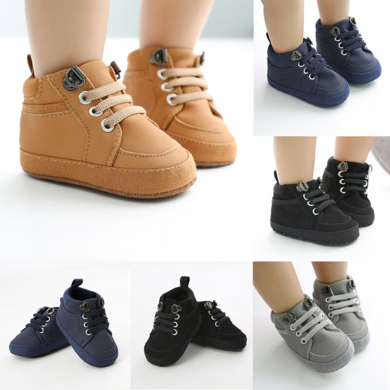 Baby Infant Boys Shoes First Walkers For Newborn Soft Non-Slip Sneakers 0-18M Fashion Baby Shoes