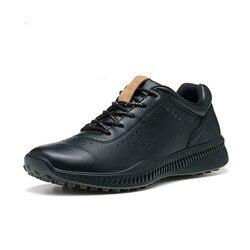 ECCO Scarpe di Cuoio degli uomini Degli Uomini di Autunno Lace-up Chaussures Traspirante Calzature Invernali Zapatos Uomini di casual Scarpe