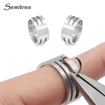 Semitree stal nierdzewna Jump Ring otwarcie zamykanie biżuteria na palce narzędzia okrągłe koło koralik szczypce dla majsterkowiczów narzędzie do wyrobu biżuterii tanie i dobre opinie 5 5g 0 inch F803 Jump Ring Tool 0inch 1 8inch Metal STAINLESS STEEL 9*18mm DIY jewelry tool Jump ring opener Jewerly Making Tool