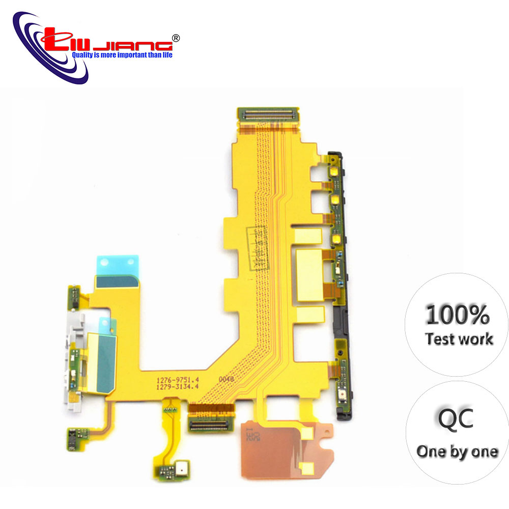 Original Switch On Of For Sony Z2 L50W D6502 D6503 D6543 Power Button Volume Switch Flex Cable Microphone Replacement