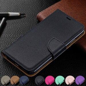 Image 1 - Portfel telefon obudowa do Xiaomi Redmi Note 8 Pro uwaga 7 7A K20 Pro 6A 6 Pro etui z klapką ze skóry Magetic posiadacz karty stań pokrywy