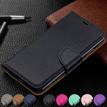 Wallet Phone Case For Xiaomi Redmi 7A 7 Cover PU Leather Flip Stand Wrist Strap Credit Card Slots Magnetic Closure