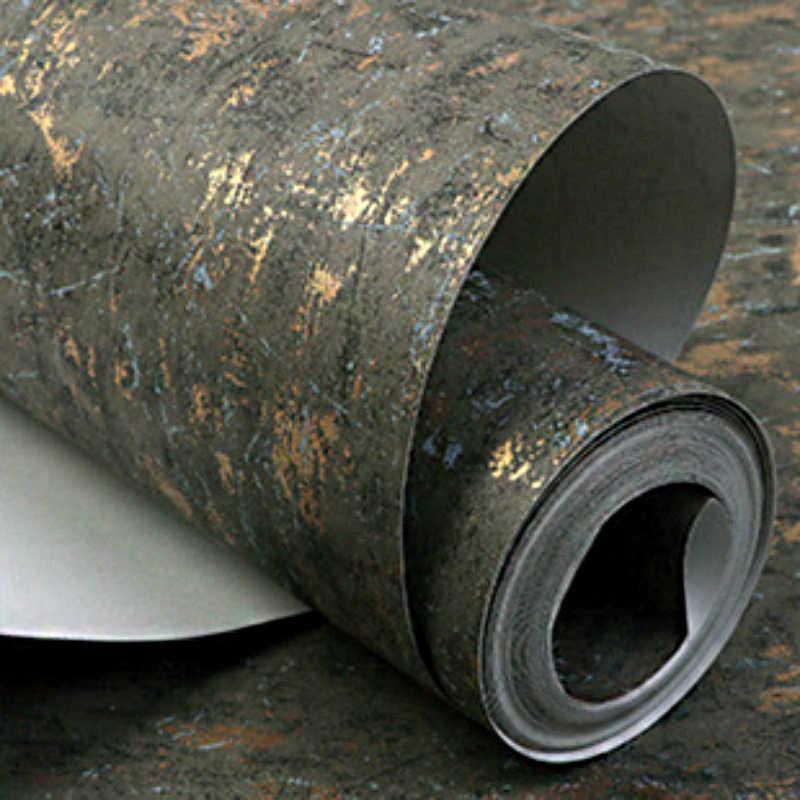 Винтажная одноцветная Серебряная/Золотая текстура настенная бумага простые черные серые зеленые обои рулон Нетканая спальня гостиная