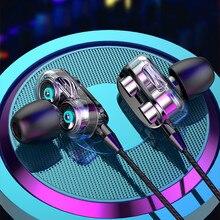 Écouteurs filaires intra auriculaires Super Bass, 3.5mm, pour ordinateur, iPhone, Samsung, Xiaomi, oreillettes à quatre disques stéréo, casque de Sport Gamer, mains libres