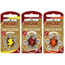 60 PCS RAYOVAC Baterias do Aparelho Auditivo Ar Zinco PICO A312 312A ZA312 312 PR41. A10 10A 10 PR70.13A A13 13A 13 P13 PR48 Bateria