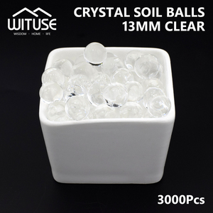 3000pcs Big Water transparent Kids Toy Plant Cultivation Crystal Beads Water Balls That Grow In Water hydrogel gel Home Decor