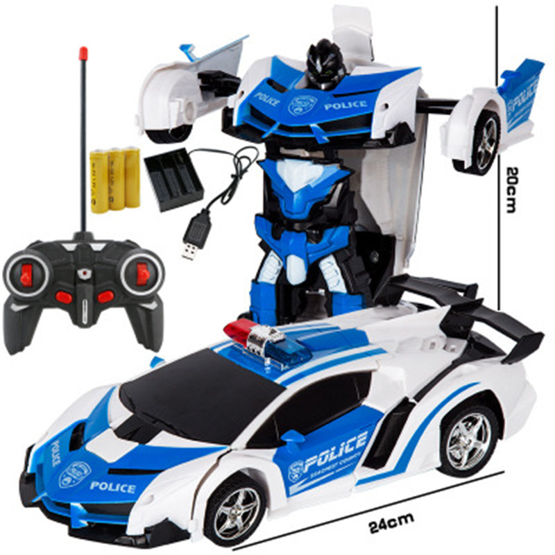 RC Car Transformation Robots Sports Vehicle Model Robots Toys Cool Deformation Car Kids Toys Gifts For Boys Dropshipping