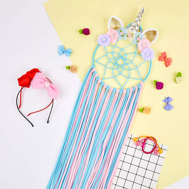 Creative Wall Hanging Colorful Unicorn Birthday Party Decoration Pendant Newborn Photography Props Cute Room Decor Dream Catcher
