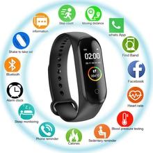 Умный Фитнес браслет M4, спортивный браслет с шагомером, пульсометром, артериальным давлением, Bluetooth, контролем здоровья и сна, водонепроницаемый смарт браслет