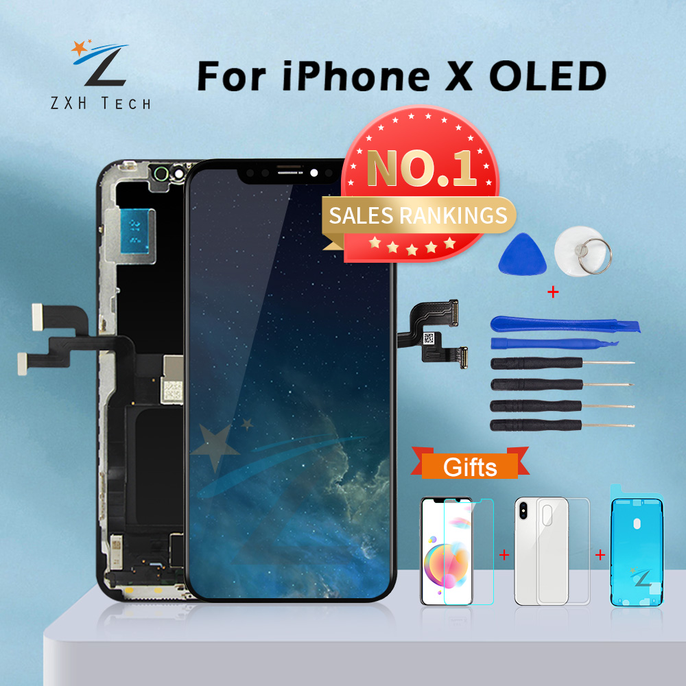 AAA+++ For iPhone X OLED With 3D Touch Digitizer Assembly No Dead Pixel LCD Screen Replacement Display For iPhoneX LCD with Gift|Mobile Phone LCD Screens|   - AliExpress