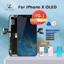 AAA + + + Per il iPhone X OLED Con 3D Touch Digitizer Assembly No Dead Pixel Dello Schermo LCD di Ricambio Display Per iPhoneX A CRISTALLI LIQUIDI di trasporto con il Regalo