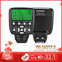 YN560TX II YN560 TX II C bezprzewodowy kontroler błysku i komandora dla Yongnuo YN 560III YN560TX speedlite do canona lustrzanki cyfrowe