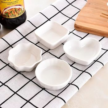 1 PC Creative ceramics  seasoning small dish Round Polygon square Japanese style color sauce sauce dish seasoning plate