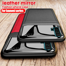 Silkscreen Mirror Leather Case For Huawei P20 P30 Lite Pro Black Luxury Case for Huawei Mate 20 Light 10 Lite Mate 20 Pro 20X smart app mirror flip case for huawei mate 8 9 10 pro flip leather holder case for huawei mate 20 pro 20 lite 20x back cover