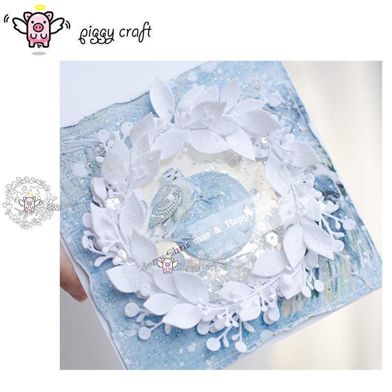 Metal Cutting Dies Cut Die Mold Leaf Wreath Scrapbook Card Making