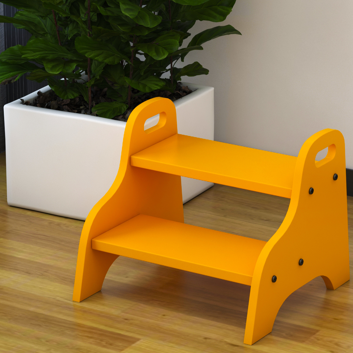 Wooden Two Steps Creative Children's Step Stool Chairs For Kids Wash Low Stool  Step Ladder Kid's Furniture 40X38X33cm