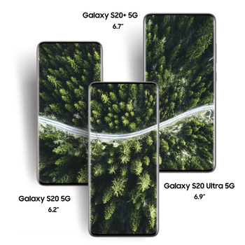 "Original New Samsung Galaxy S20 5G S20+ 5G S20 Ultra 5G 6.2/6.7/6.9"" Display 64/108MP 30x/100x Zoom Camera Android Smartphone"