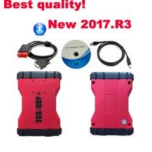 Herramienta de diagnóstico VD600 con Bluetooth 2021. R3, keygen VD DS150E CDP para delphis obd2, escáner de coche con carcasa, color rojo, novedad de 2017