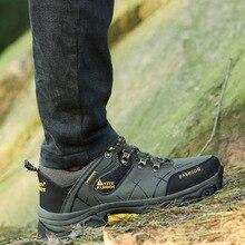 Стиль противоскользящие водонепроницаемые износостойкие уличные альпинистские ботинки мужские низкие ботинки большого размера походная обувь для путешествий спортивная мужская повседневная обувь