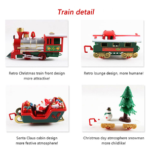 Image 4 - クリスマス電気レール車の列車のおもちゃ子供の電気おもちゃの鉄道列車セットレース道路輸送構築のおもちゃ282539